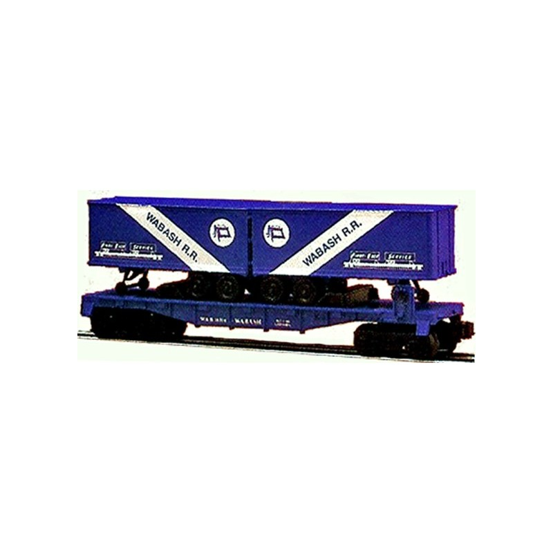 LIONEL 16314 WABASH FLAT CAR WITH TRAILERS