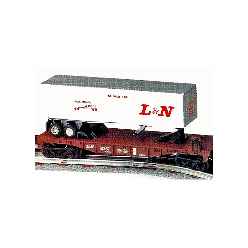LIONEL 16357 LOUISVILLE & NASHVILLE FLATBED WITH TRAILER