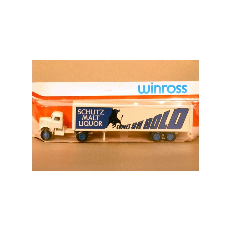 WINROSS SCHLITZ MALT LIQUOR TRACTOR AND TRAILER TRUCK