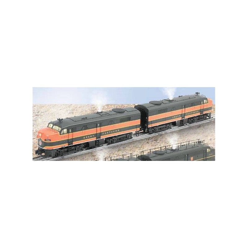 LIONEL 38147 GREAT NORTHERN ALCO FA-2 DIESEL A-A LOCOMOTIVES WITH 38194