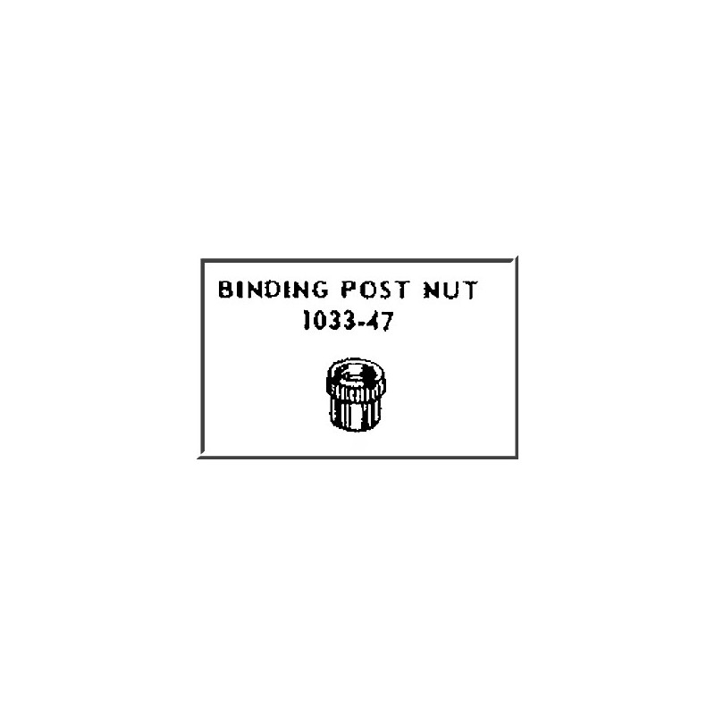 LIONEL PART 1033-47 binding post nut for 1033