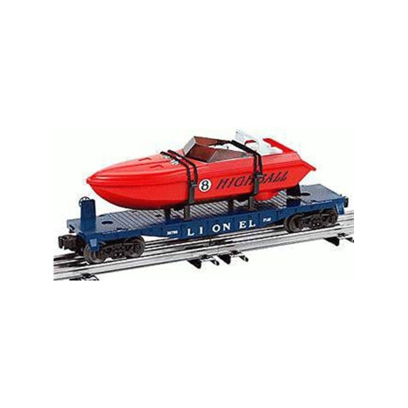 LIONEL 26785 LIONEL LINES O27 FLATCAR WITH POWER BOAT