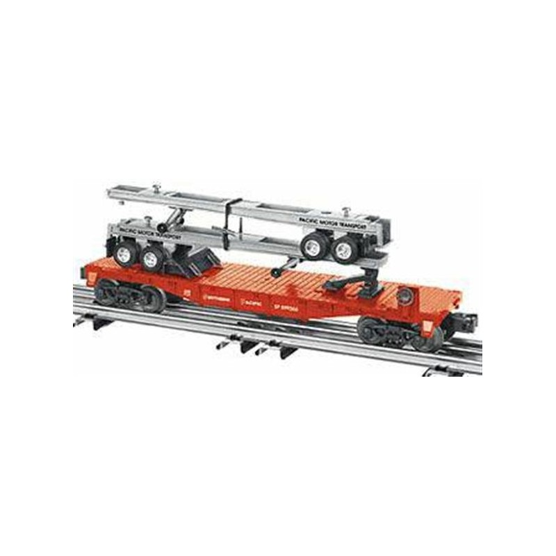 LIONEL 26058 SOUTHERN PACIFIC FLATCAR WITH TRAILER FRAMES
