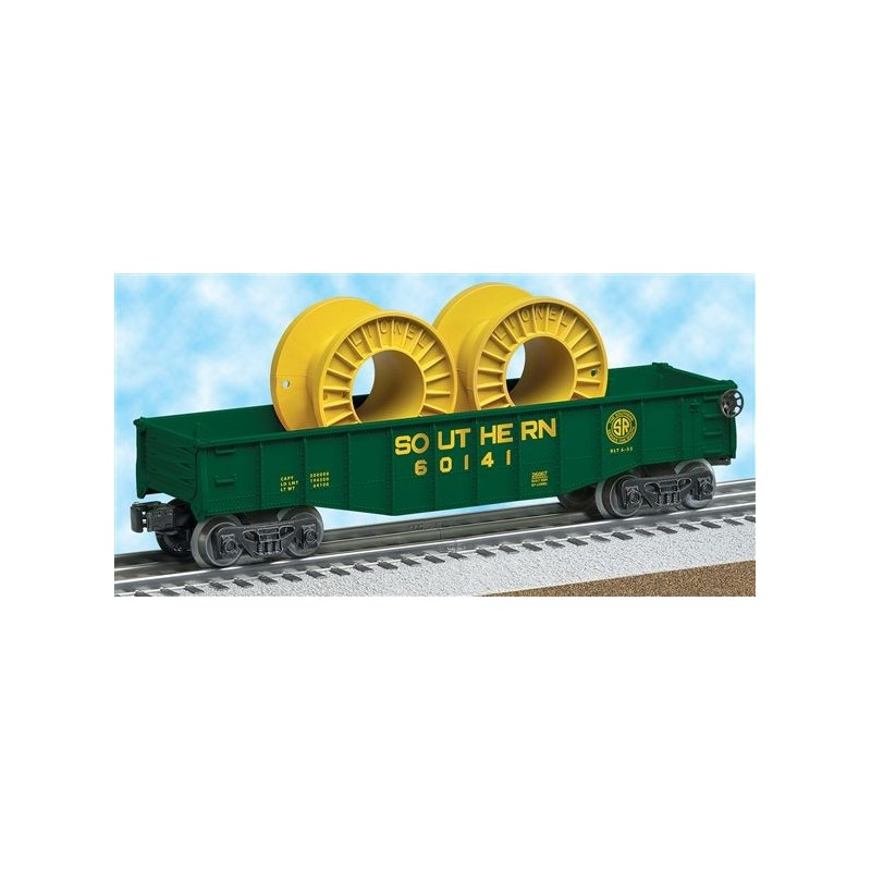 LIONEL 26067 SOUTHERN GONDOLA WITH CABLE REELS