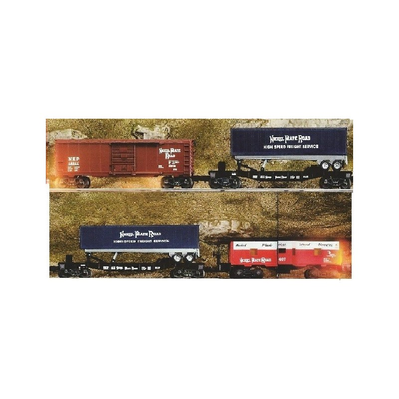 LIONEL 21750 4 PACK NICKEL PLATE ROAD ROLLING STOCK