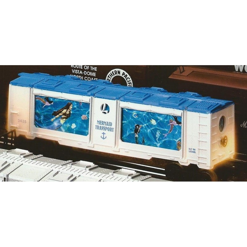 LIONEL 19856 MERMAID TRANSPORT AQUARIUM CAR