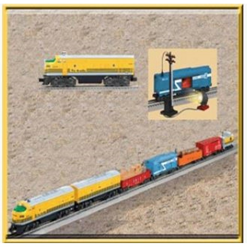 LIONEL 31727 2291W RIO GRANDE FREIGHT AND  24528 2379T RIO GRANDE F3 NON-POWERED A-UNIT TRAIN SET