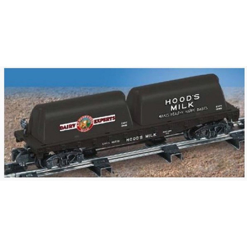 AMERICAN FLYER 48538 HOOD'S FLATCAR WITH MILK CONTAINERS