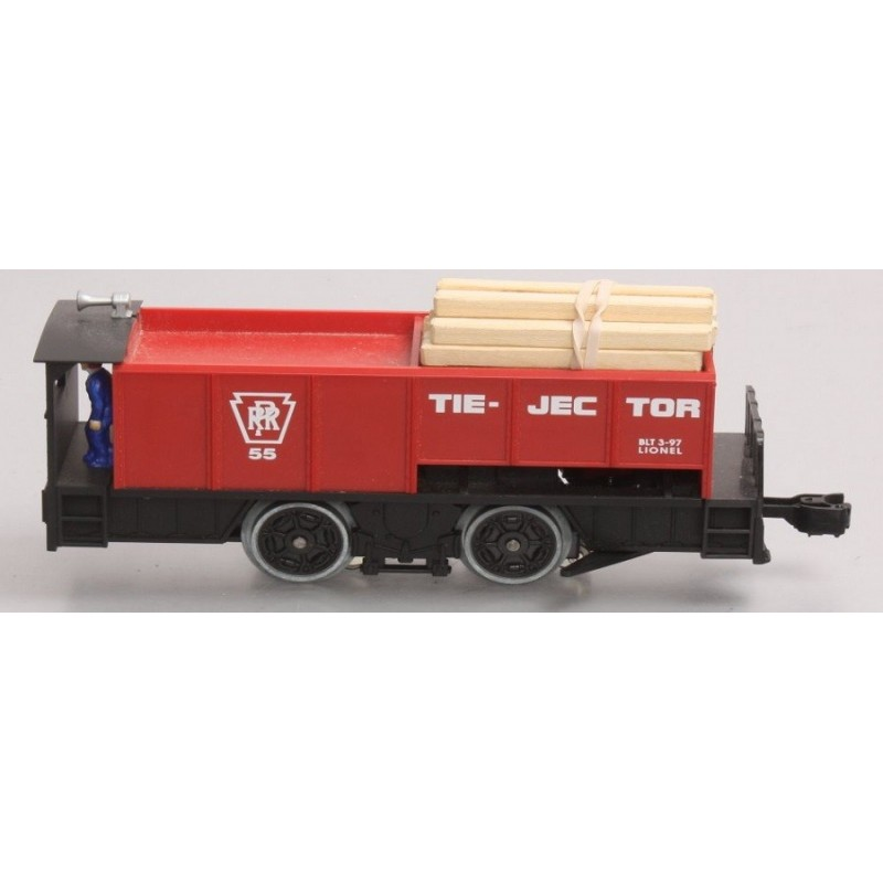 LIONEL 18427 55 TIE-JECTOR CAR PENNSYLVANIA RAILROAD