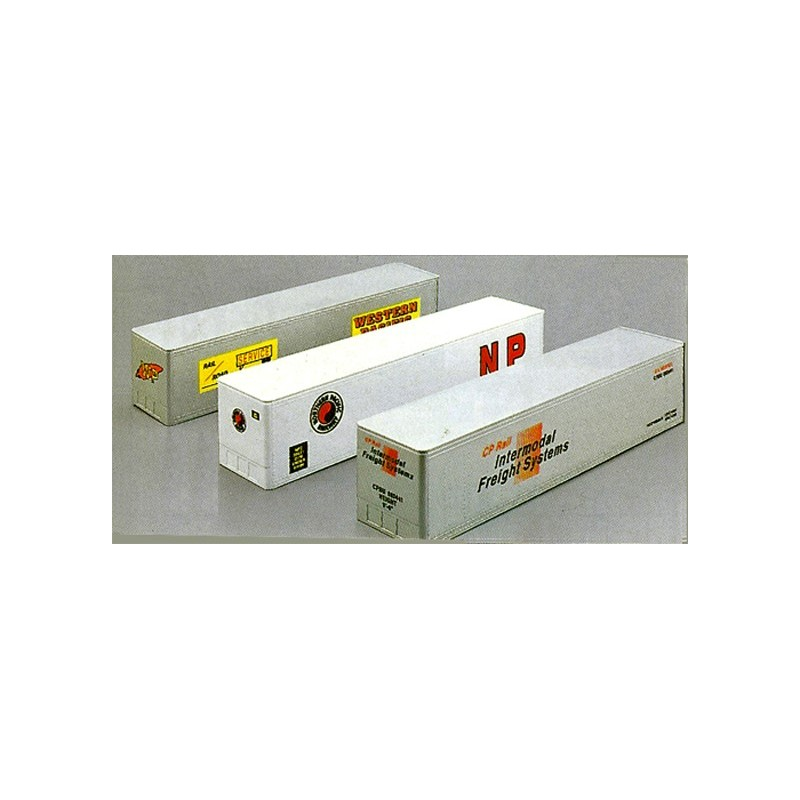 LIONEL 12907 NORTHERN PACIFIC RAILWAY, CP RAIL AND WESTERN PACIFIC INTERMODAL CONTAINER SET