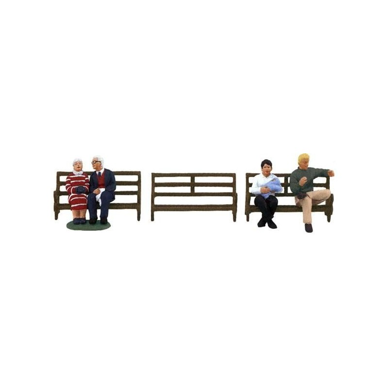 LIONEL 24192 LIONELVILLE PARK BENCHES PEOPLE PACK