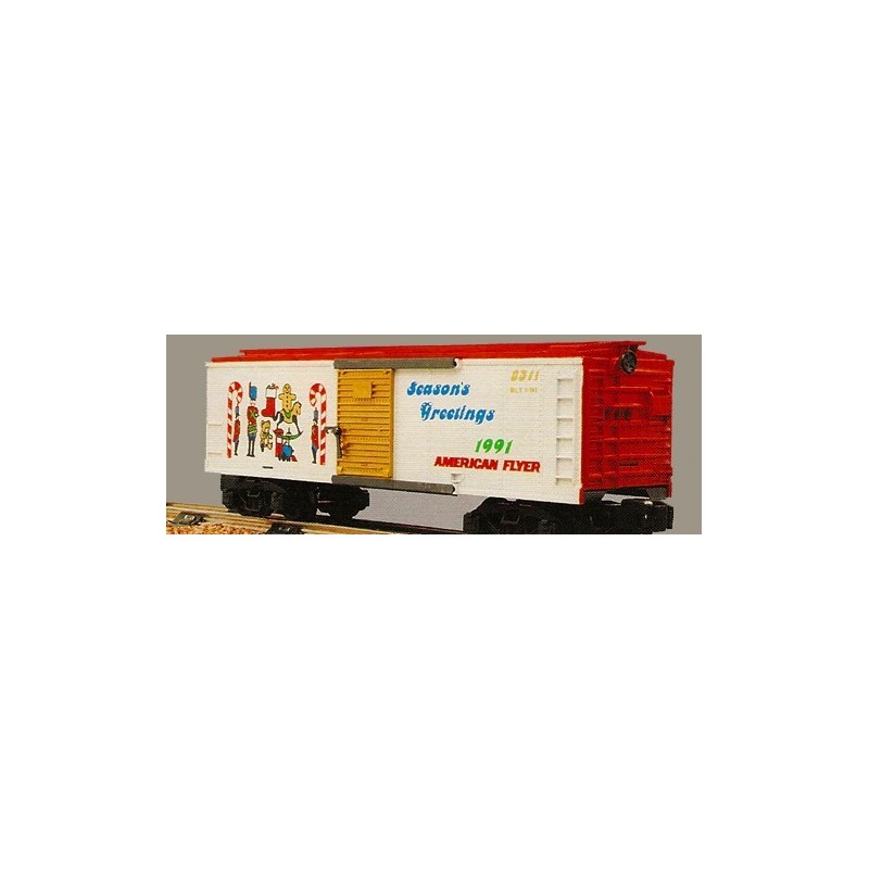 AMERICAN FLYER 48311 1991 CHRISTMAS BOXCAR
