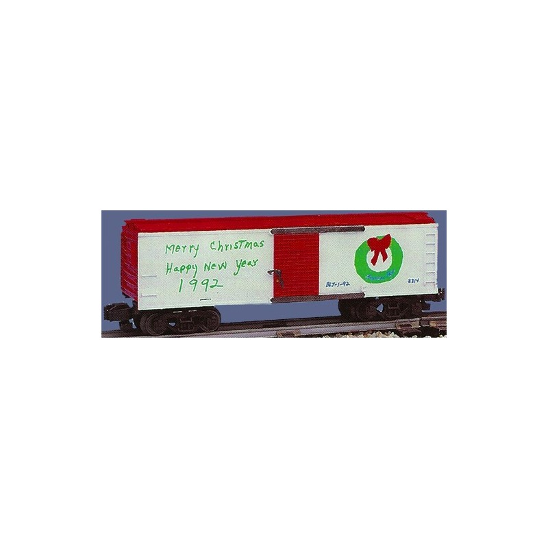 AMERICAN FLYER 48314 1992 CHRISTMAS BOXCAR