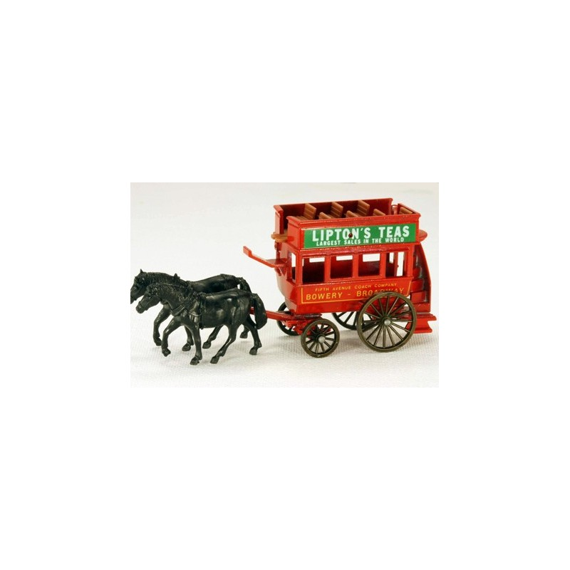 Lledo Days Gone DG041 Horse Drawn Double Deck Coach Lipton Tea Bowery and Broadway
