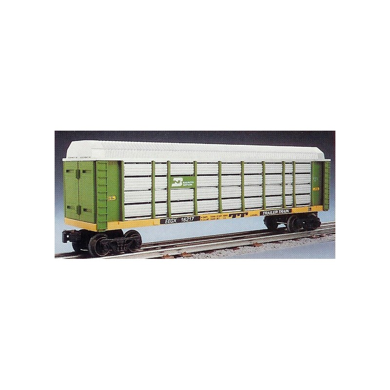 LIONEL 16217 BURLINGTON NORTHERN AUTO CARRIER WITH SCREENS